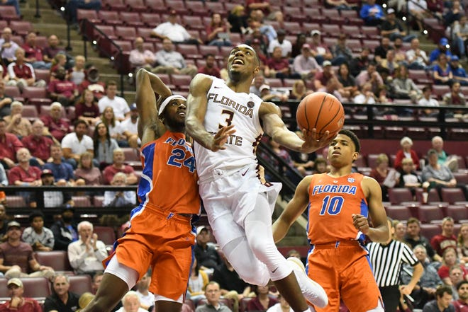 Florida State junior guard Trent Forrest scored 13 points during his team's blowout win over Florida on Tuesday night at the Tucker Center.