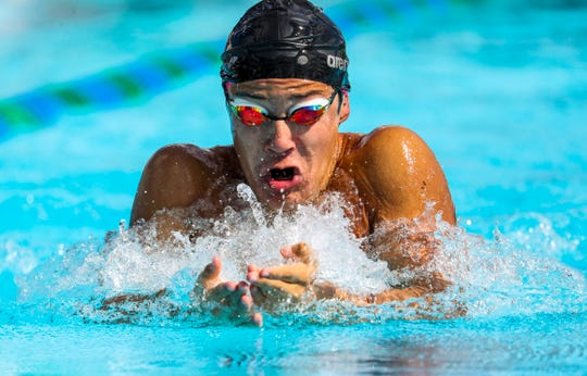 Boys 100 Yard Breaststroke - Steven Rua, Cape Coral.