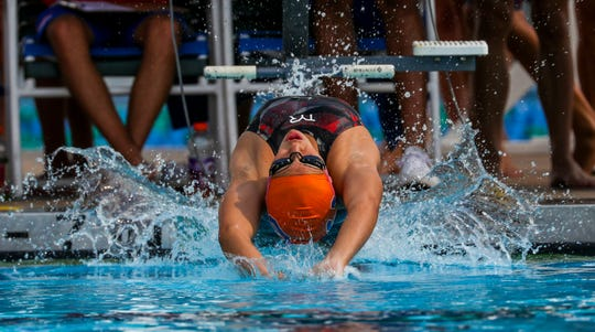 Nicole Rodriguez, Cape Coral - Girls 100 Yard Backstroke.FHSAA 2A Region 4 Championship at FGCU. Cape Coral High School hosted the meet, Saturday, November 10, 2018.