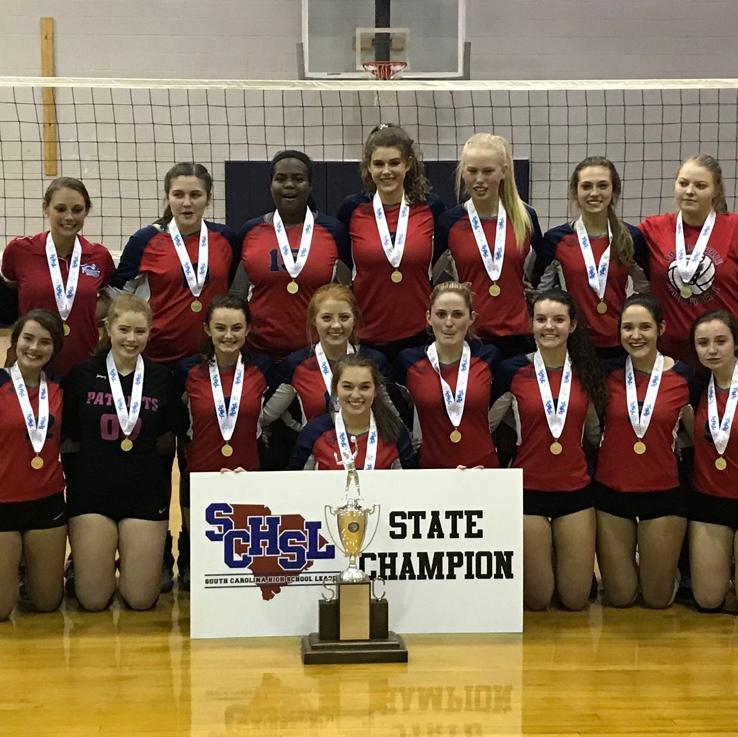 Powdersville defeated Bishop England to win the Class AAA state volleyball championship. The win snapped a national record of 18 consecutive volleyball state championships by the Bishops.