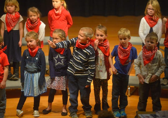 Choteau kids honor veterans with a musical concert on Friday in Choteau.