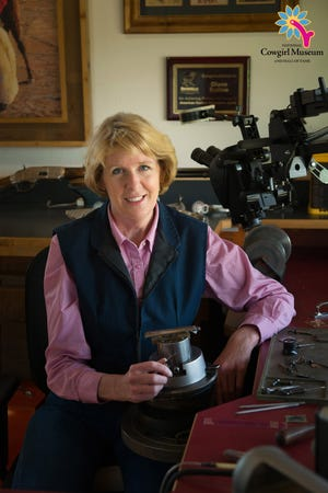 Diane Scalese of Big Sandy is a master engraver who recently was inducted into the National Cowgirl Hall of Fame
