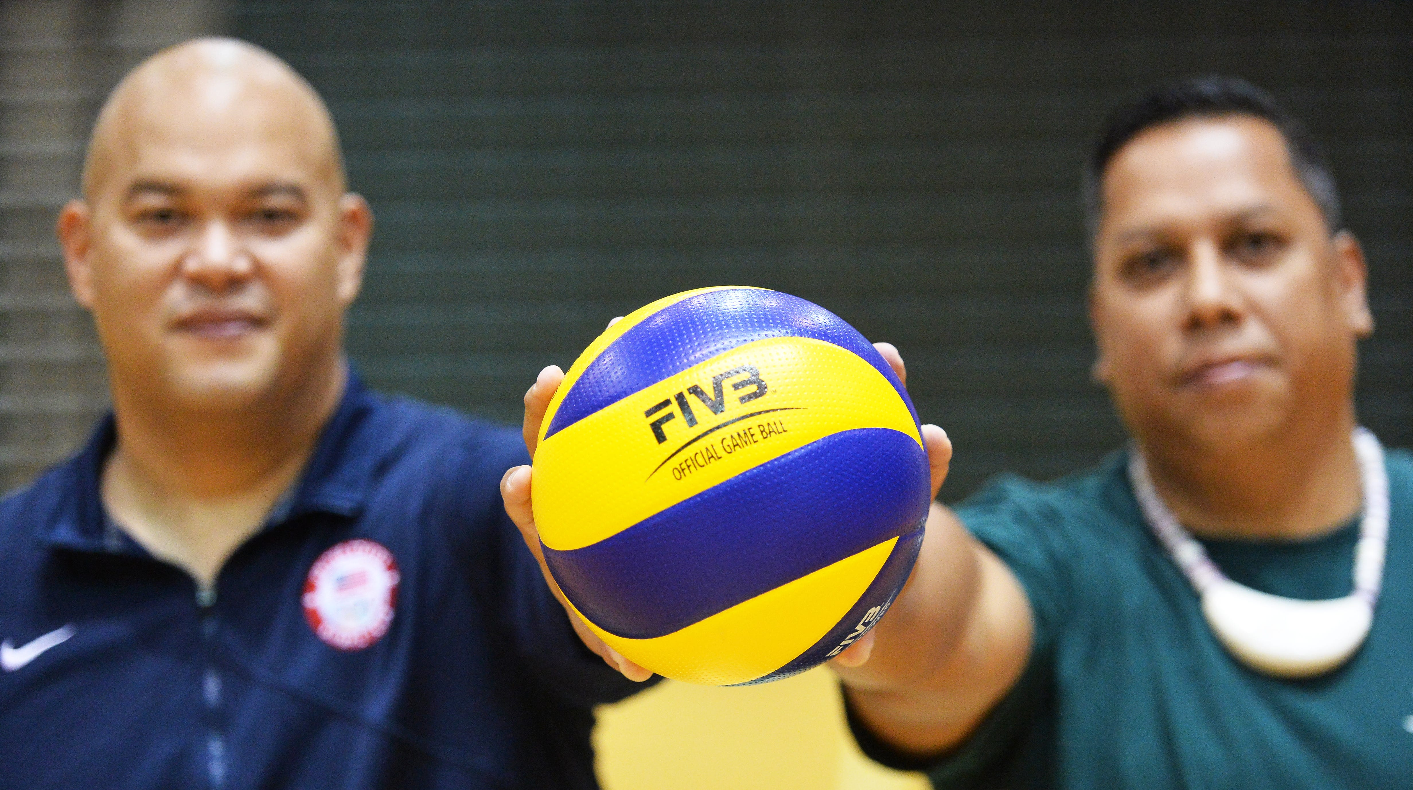 Mike Rabago, left and Joel Quitugua, head coaches for Guam's National Volleyball Teams are ready to take Guam to new heights in regional volleyball. All they need are 28 players with the right attitude.
