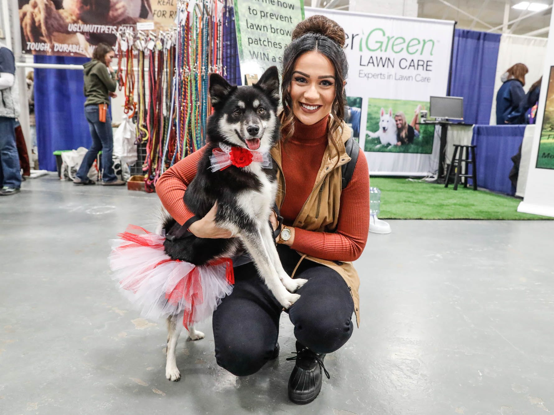Sierra Jackson holds her Leia at the Great Indy Pet Expo, held at the Indiana State Fairgrounds on Sat. Nov. 10, 2018.