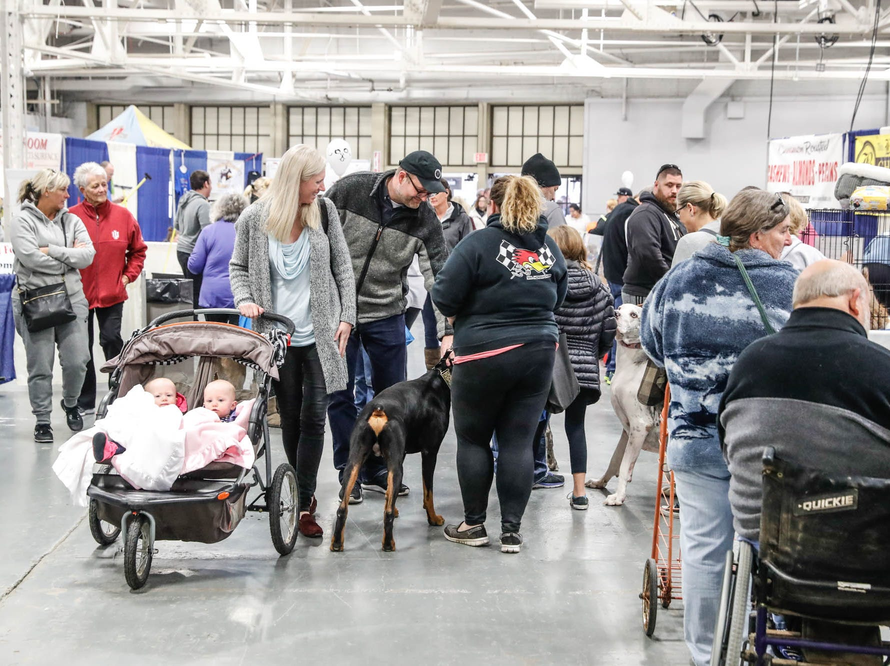 Guests bring their pets to the Great Indy Pet Expo, held at the Indiana State Fairgrounds on Sat. Nov. 10, 2018.