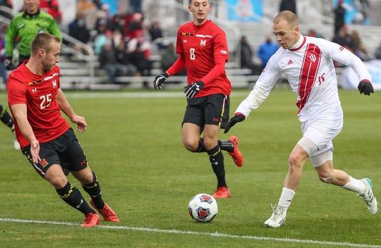 Indiana Hoosiers Versus Maryland Terrapins In Big Ten Men S Soccer Semifinals At Grand Park In Westfield Ind Nov 9 2018