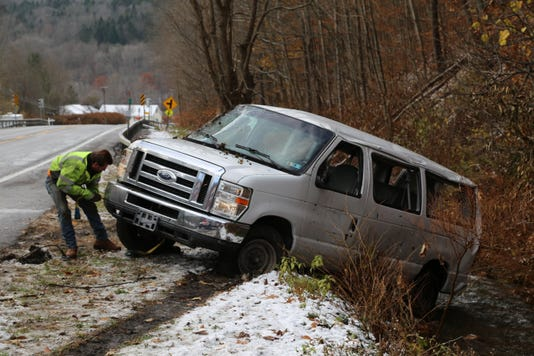 Van taken out of ditch