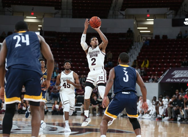 Lamar Peters puts up a shot during Mississippi State's exhibition victory over Georgia Southwestern. The junior point guard guided the Bulldogs' to a win in Game 1 of their season Friday night against Austin Peay.