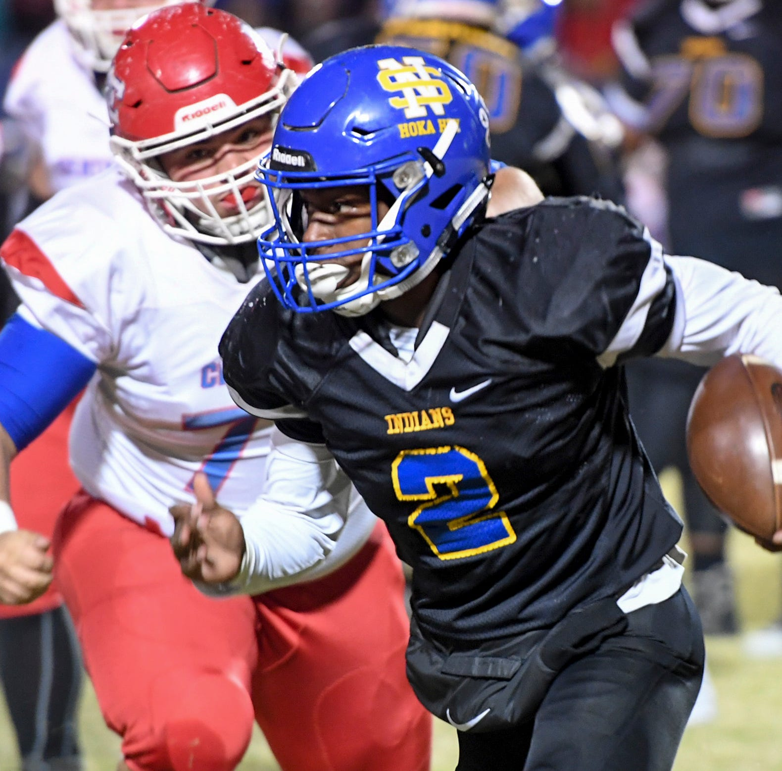 Who were the Jackson area prep football top performers from second round of playoffs?