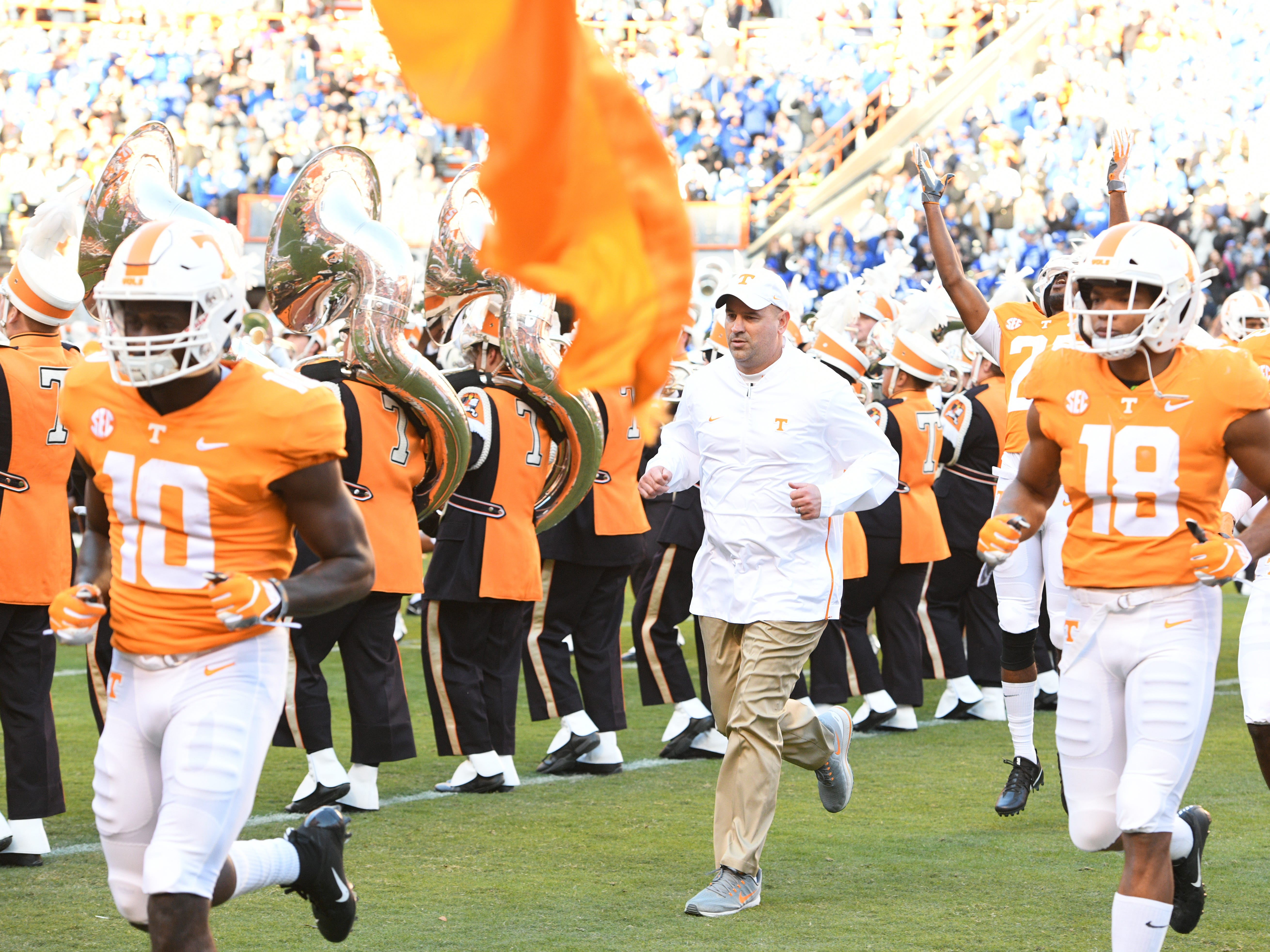 Jeremy Pruitt Wife >> UT Vols: How Tennessee football coach Jeremy Pruitt handles recruiting visits on game day | USA ...