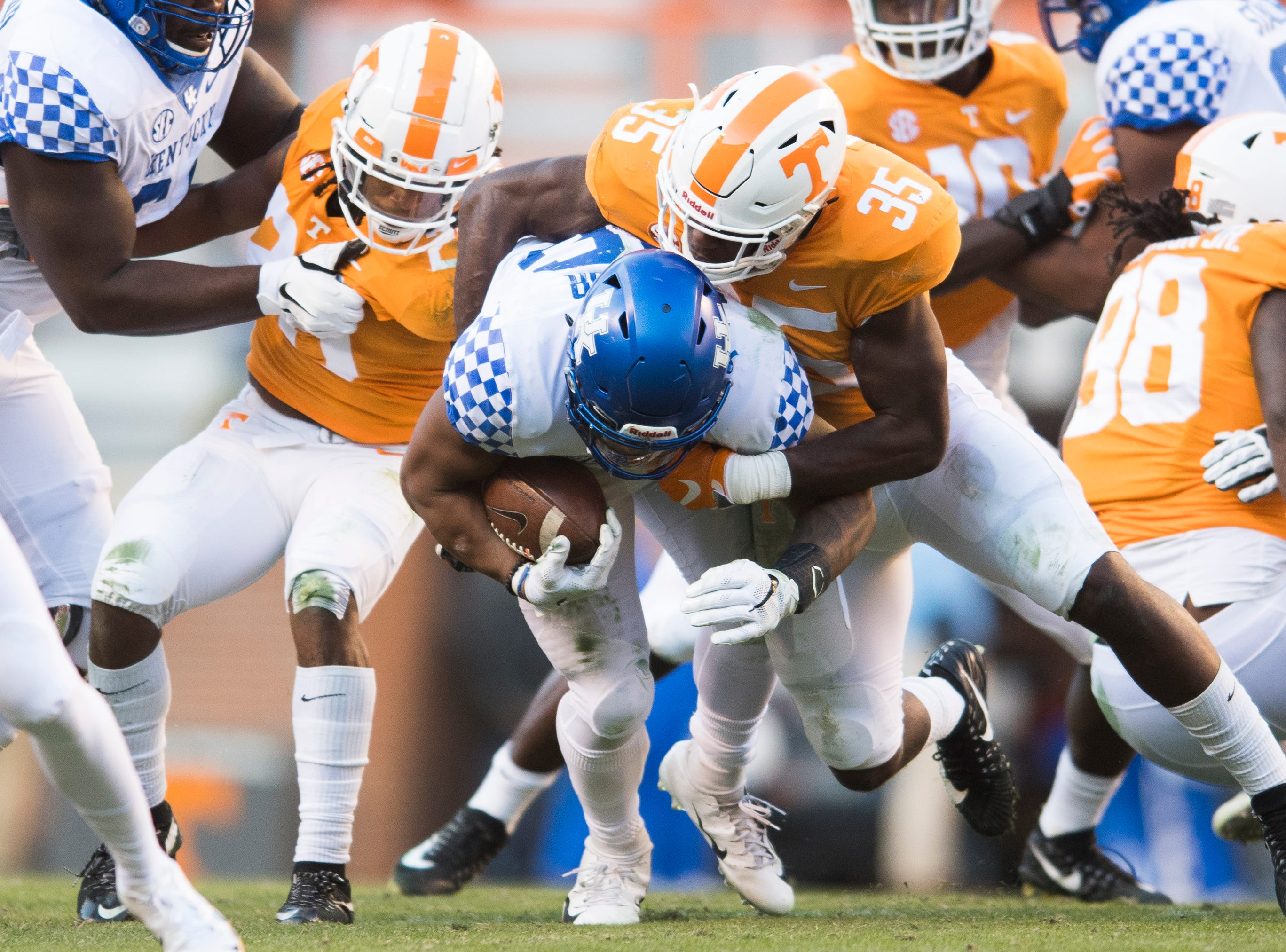 during a game between Tennessee and Kentucky at Neyland Stadium in Knoxville, Tennessee on Saturday, November 10, 2018.