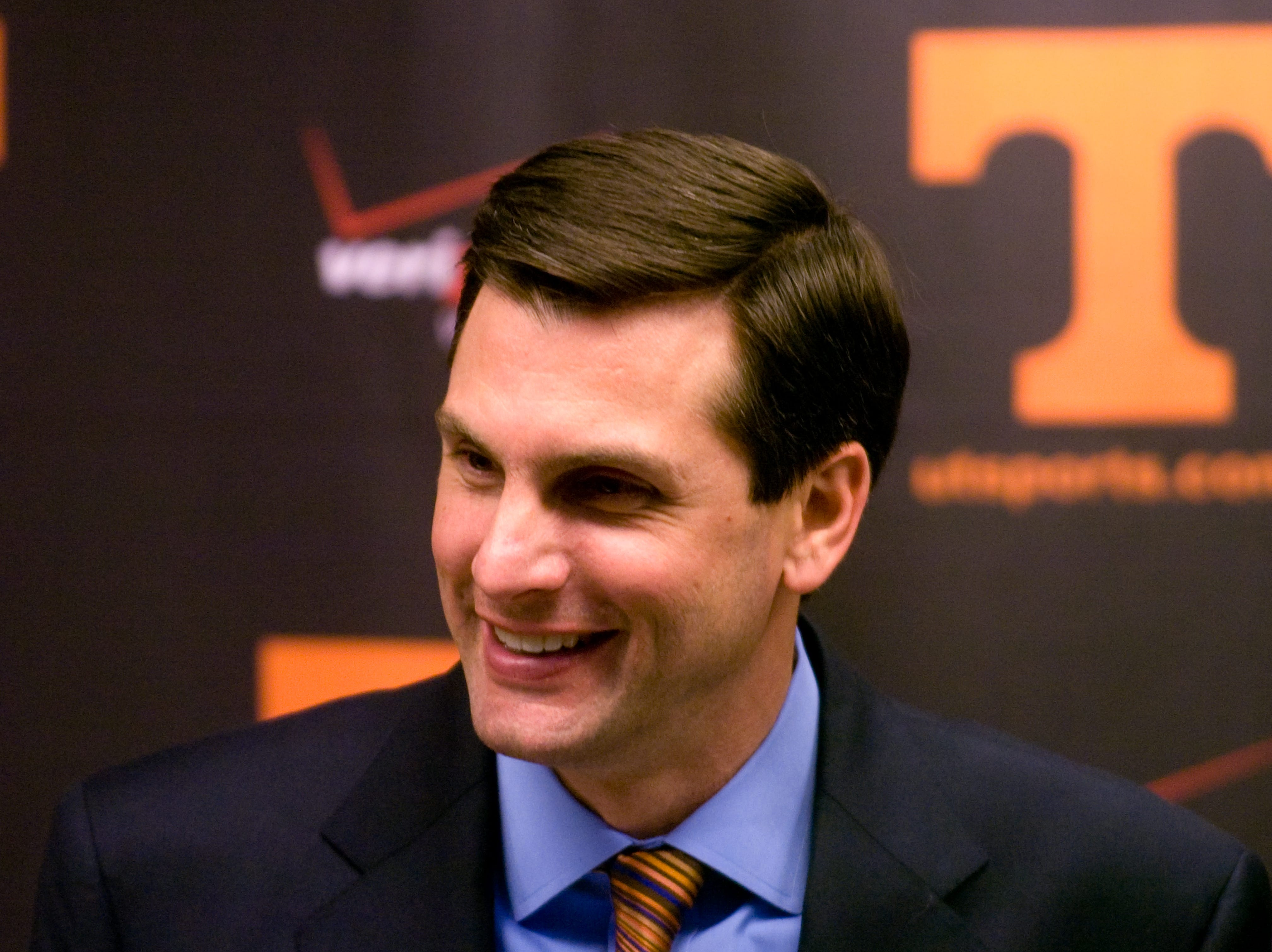 Tennessee head football coach Derek Dooley talks about recruiting and the 2010 signing class on  Wednesday, Feb 3, 2010 at Neyland Stadium.