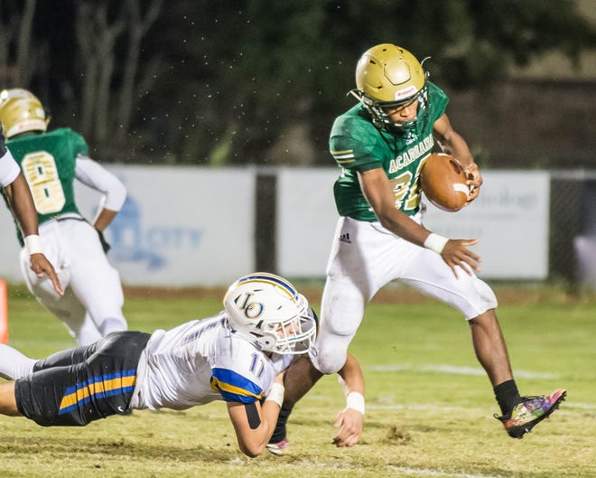 Acadiana High halfback Larryll Greene stepped up in a huge way for the Wreckin' Rams again Friday in a comeback 38-37 win over Denham Springs.