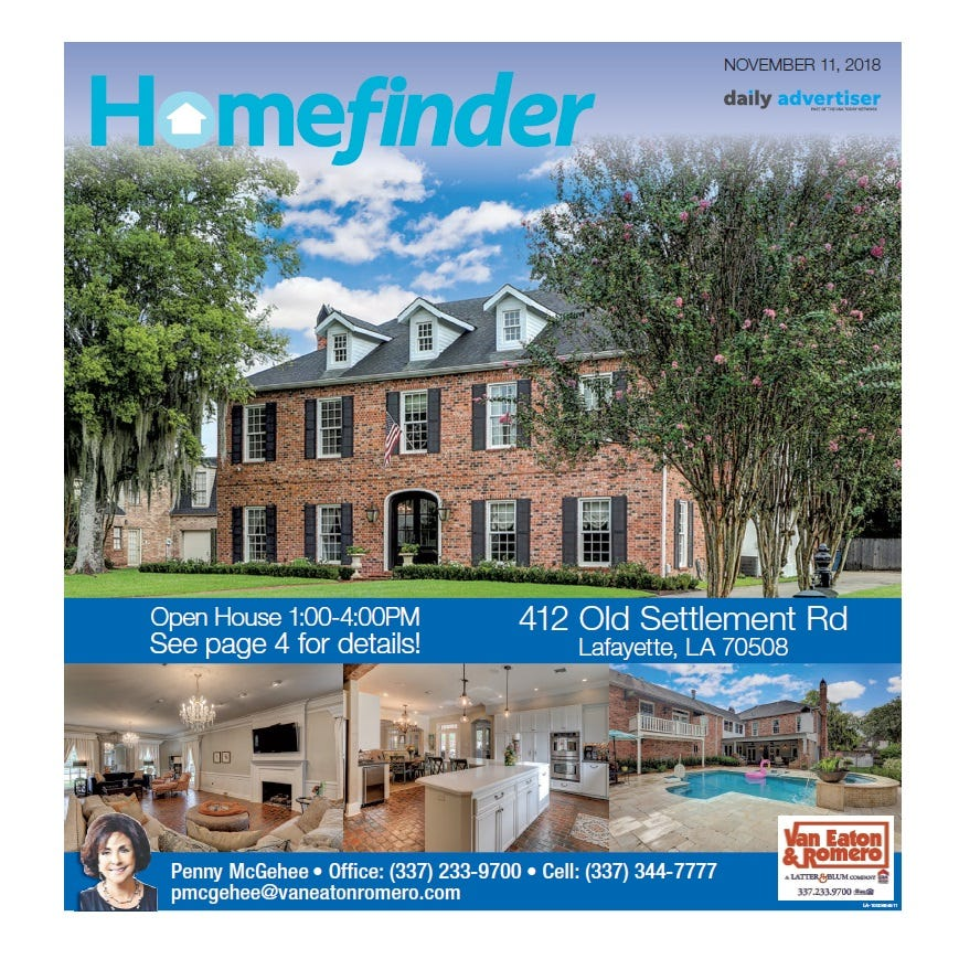 Homefinder: Nov. 11, 2018
