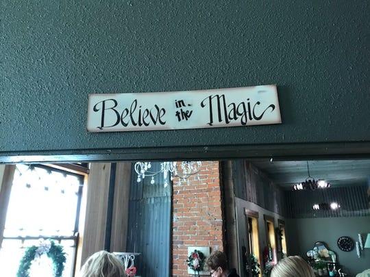 A sign above the door of Sabrina Krejci's new business inside Dylan's Den in Neillsville.