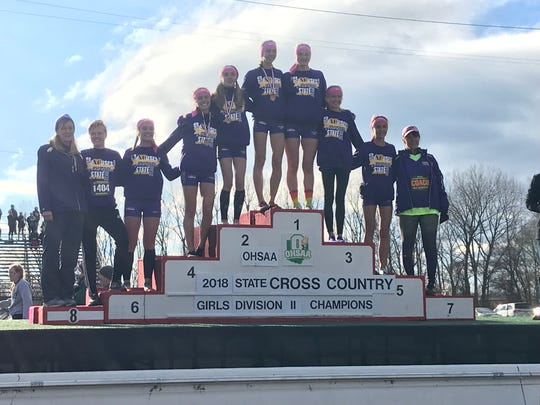 The Lexington Lady Lex girls cross country team won the Division II state championship on Saturday at National Trail Raceway in Hebron.