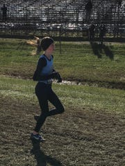 River Valley's Emma Hawk competes at the state cross country championships last season.