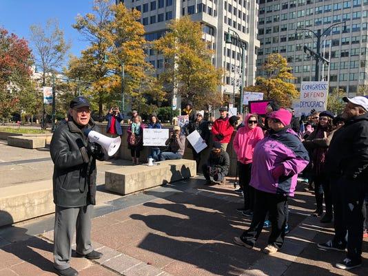 Cohen protest