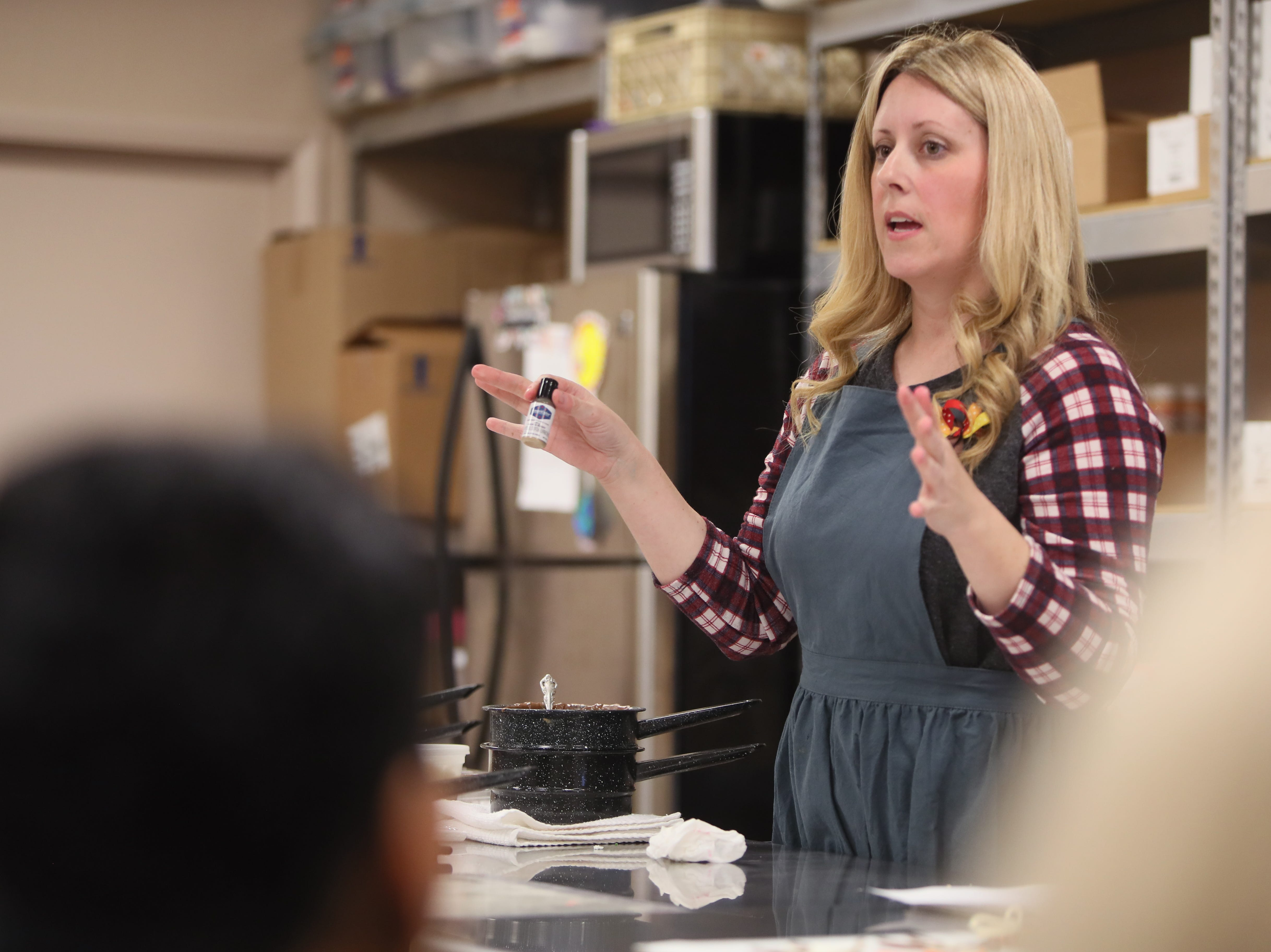 Toni Faherty walks students through decorating techniques, part of her Holiday Candy Class at Mary Carter Decorating Center on Saturday, Nov. 10, 2018. The class is one of four the family hosts for free holiday sweets creation lessons.