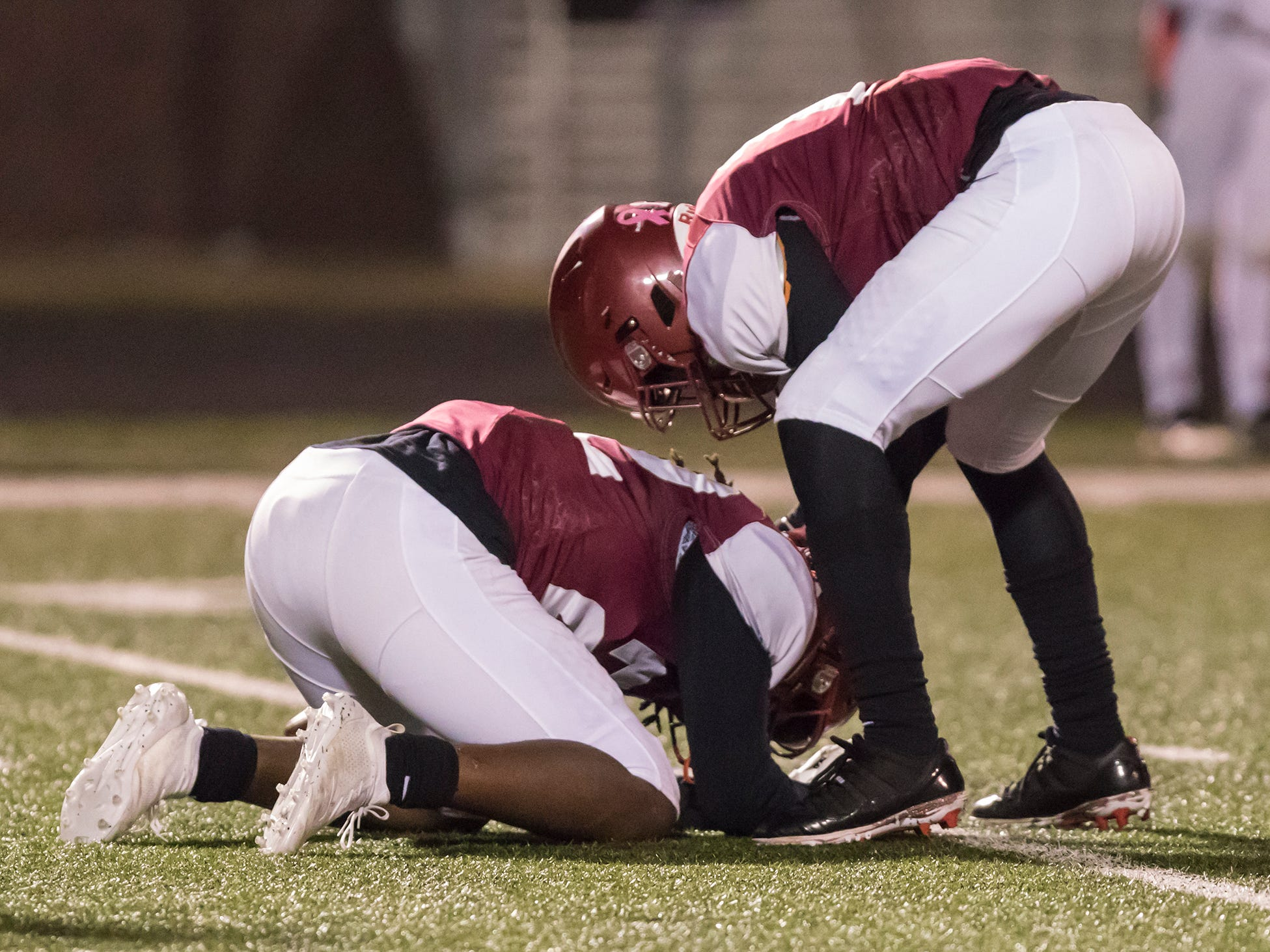 Ouachita Parish High School defeats Parkway 37-35 in the first game of the playoffs at OPHS in Monroe, La. on Nov. 9.