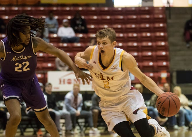 ULM's Michael Ertel led all scorers with 21 points on Saturday. The Warhawks beat Stephen F. Austin 74-58 on Saturday at Fant-Ewing Coliseum.