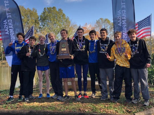 Catholic claims its second state boys title at the AHSAA state cross country championships on Saturday, Nov. 10, 2018, in Oakville.