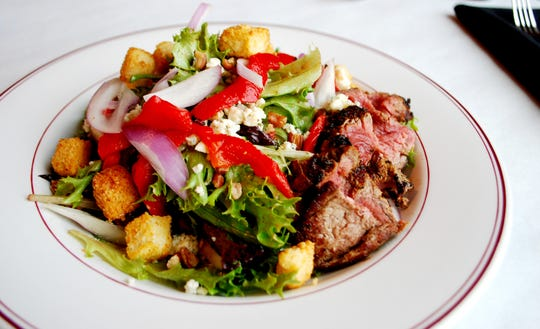 Steak and Bleu Salad at Char Restaurant in Green Hills.