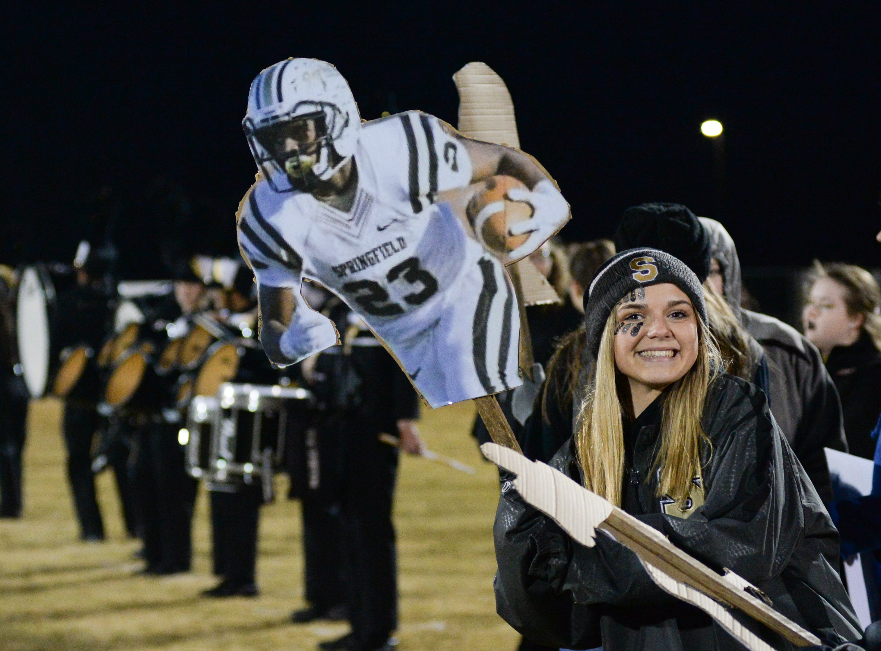 Springfield High School fans have a blast at Springfield High School on Friday, Nov. 9.