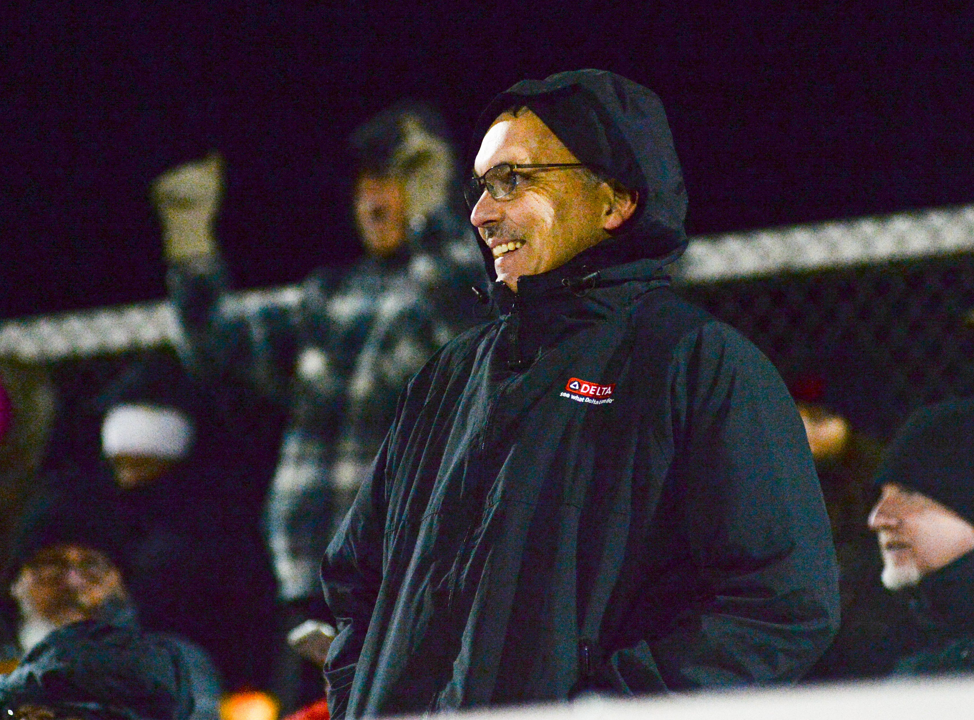 South Side High School fans cheer for their team at Springfield High School on Friday, Nov. 9.
