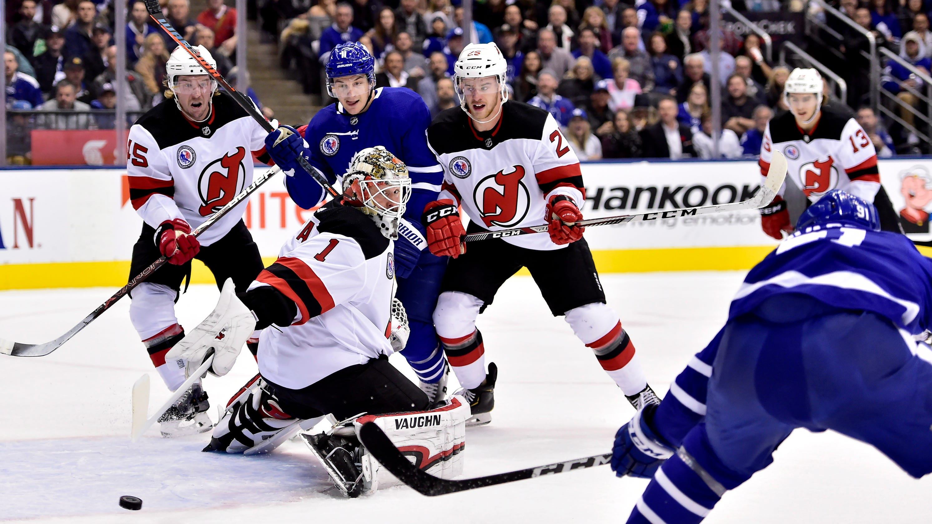 911e8d3e4 Devils make little progress in Hall of Fame Game loss to Maple Leafs
