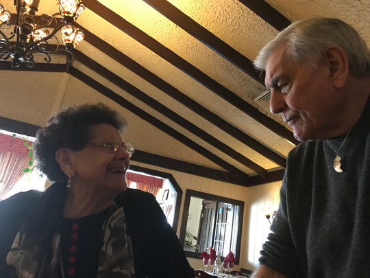 Carmela Currier, of Passaic,  and nephew, Frank Chierico, of Monroe Township at a lunch on Nov. 10, ,2018 where Currier donated $15,000 to Rutgers New Jersey Medical School for autism screenings.