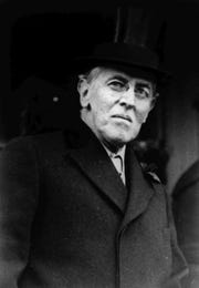 Woodrow Wilson in 1924.  As the 28th president, Wilson, a former New Jersey governor and president of Princeton University, led the country during World War I and was a leading advocate of the League of Nations. (AP Photo)