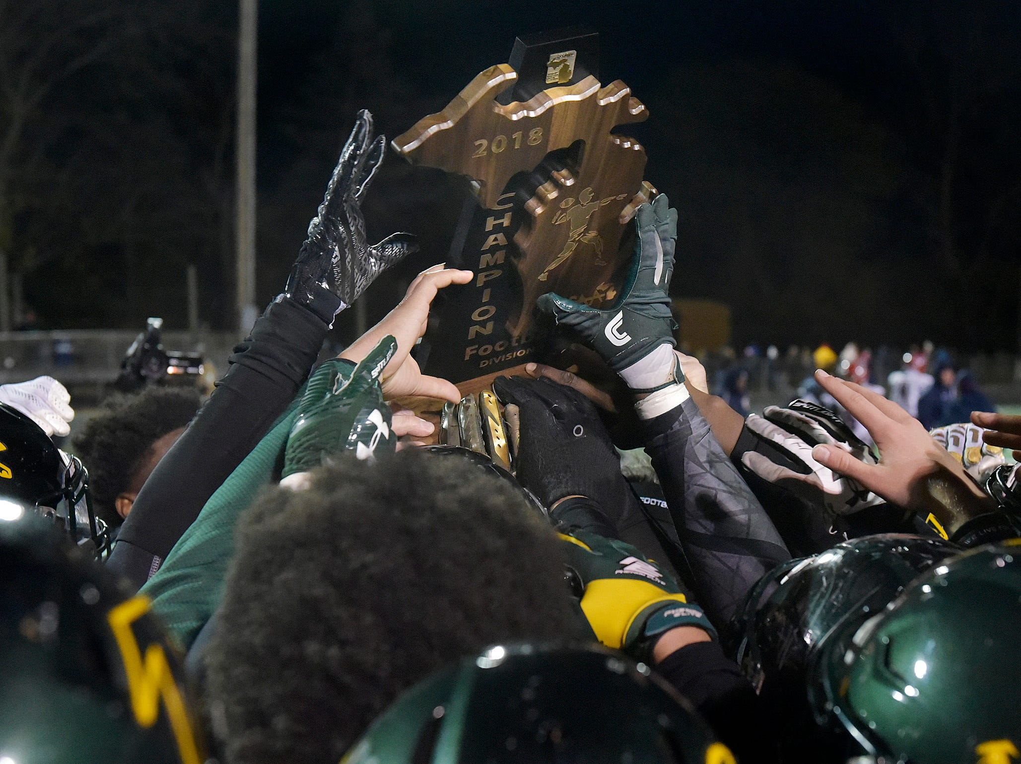Trophy time for Birmingham Groves football.