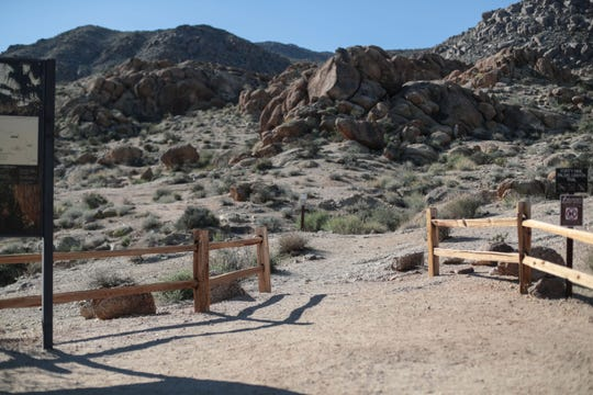 The trailhead to the 49 Palms Oasis trail in Joshua Tree National Park, where Paul Miller of Guelph, Ontario, went hiking on July 13, 2018. While his car was found at the parking lot, Miller hasn't been seen since that morning.