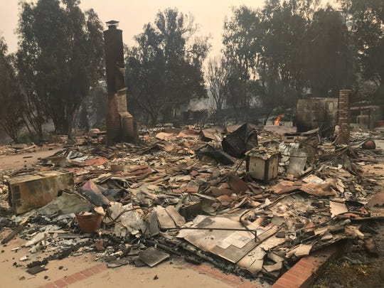 More than a dozen homes were destroyed in the Point Dume neighborhood in Malibu