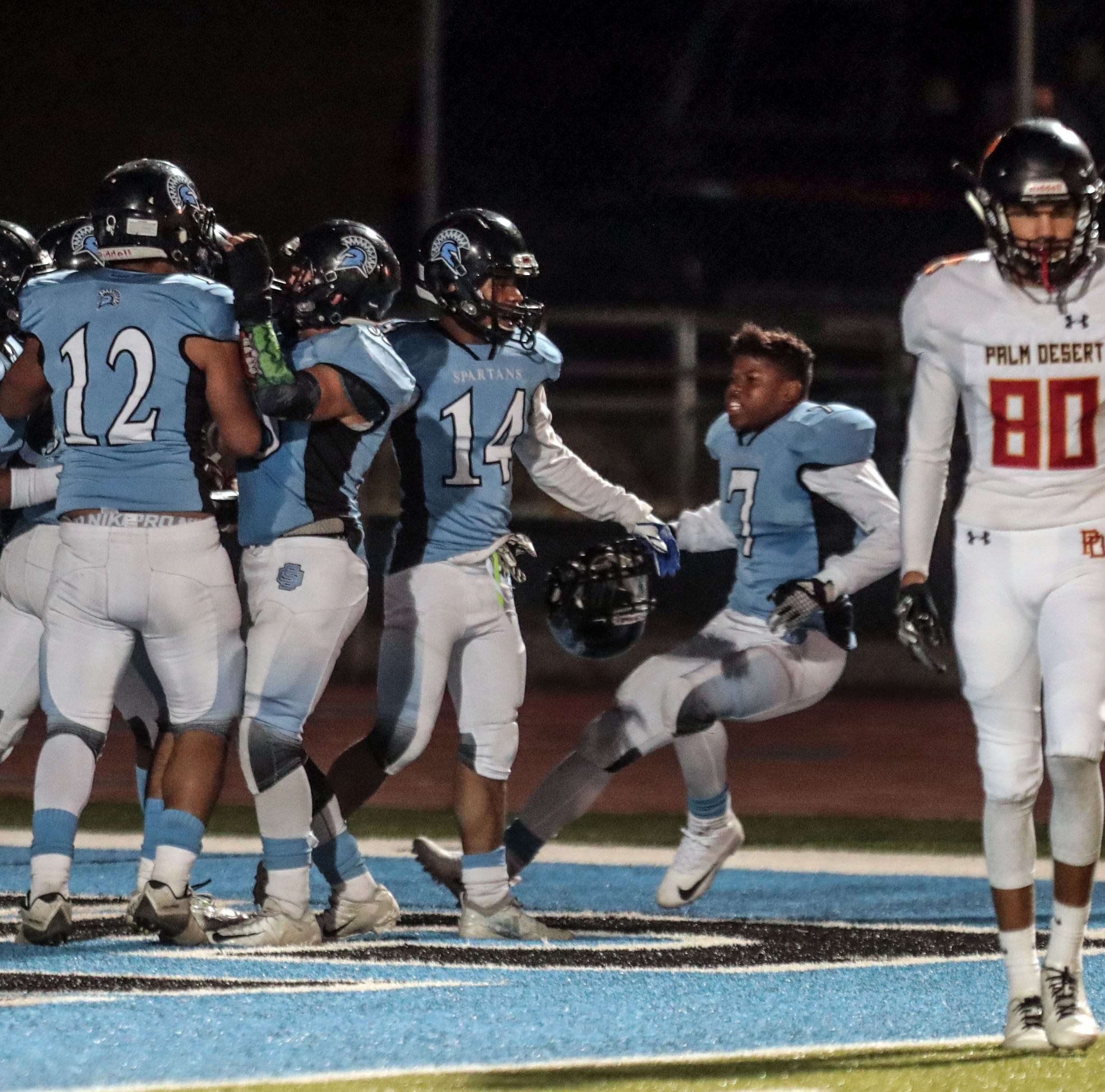 Sour end to sweet season for Palm Desert football; No. 1 Aztecs ousted in second round