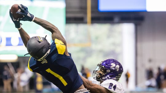 Emmanuel Butler needs 17 catches to set the all-time mark at NAU.