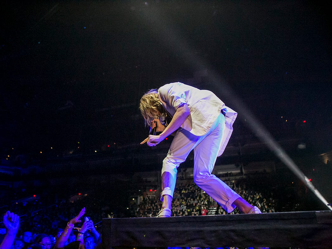 Awolnation opens for Twenty One Pilots at Talking Stick Resort Arena on Friday, Nov. 9, in Phoenix.