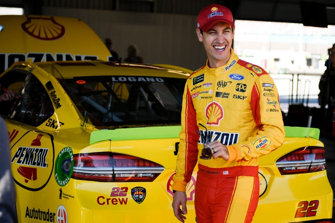 Nov 10, 2018: Monster Energy NASCAR Cup Series driver Joey Logano (22) during practice for the Can-Am 500 at ISM Raceway.