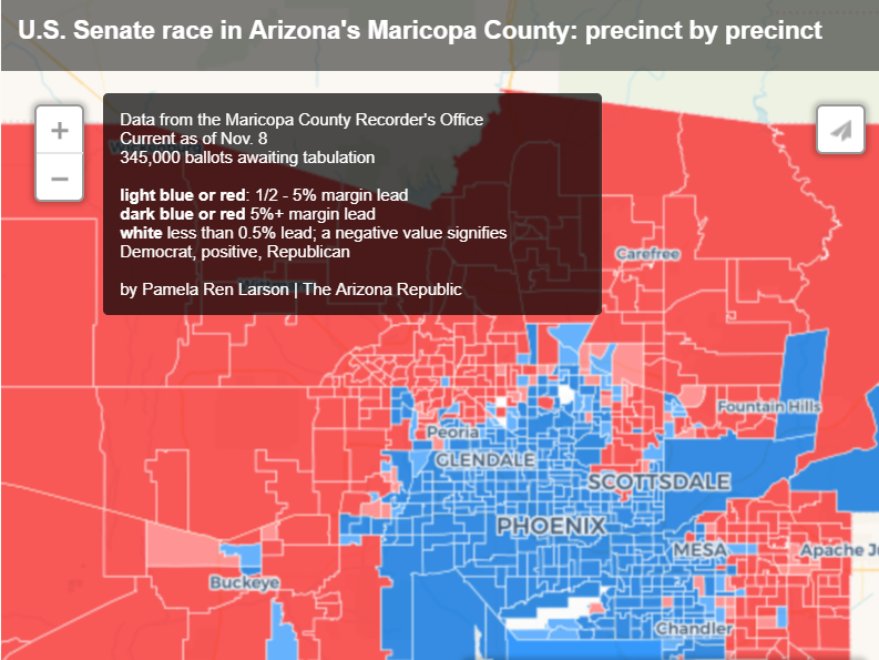 Precinct by precinct: How the McSally-Sinema race is playing out in Maricopa County
