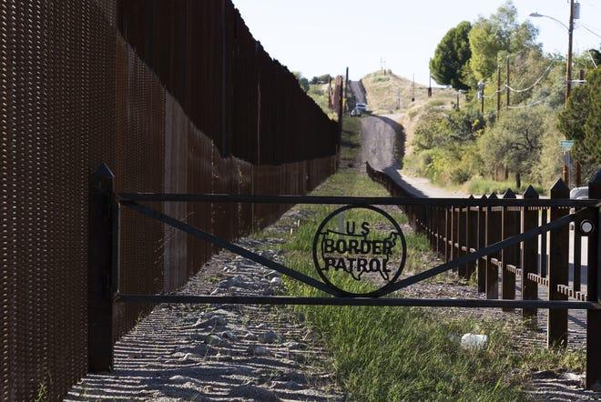 Border fence near Nogales Port of Entry, Dennis DeConcini Crossing on Nov. 9, 2018.