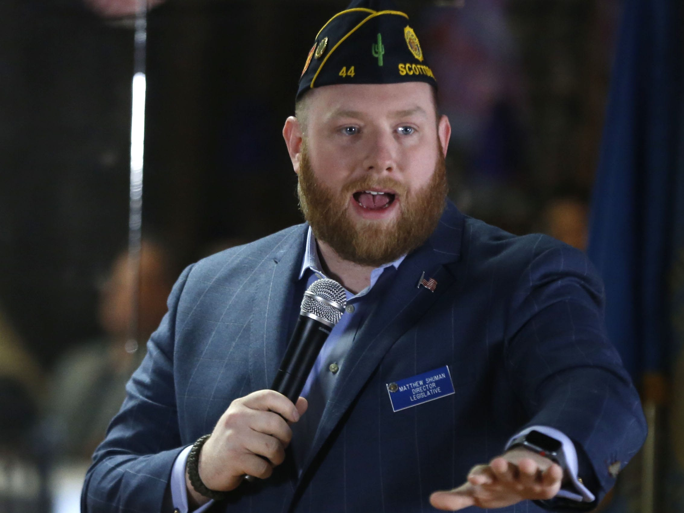 Matthew Shuman, Director of the National Legislative Division for The American Legion, speaks during 7th annual Forgotten Heroes Appreciation Breakfast at Travis L. Williams American Legion Post 65 in Phoenix on Nov. 10, 2018.