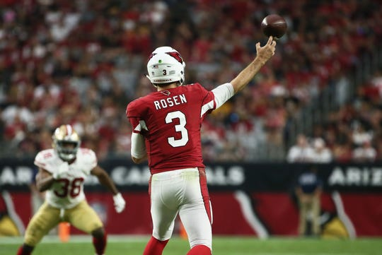 Josh Rosen throws a pass against the 49ers in the Cardinals  second win of  the b2cc441ad