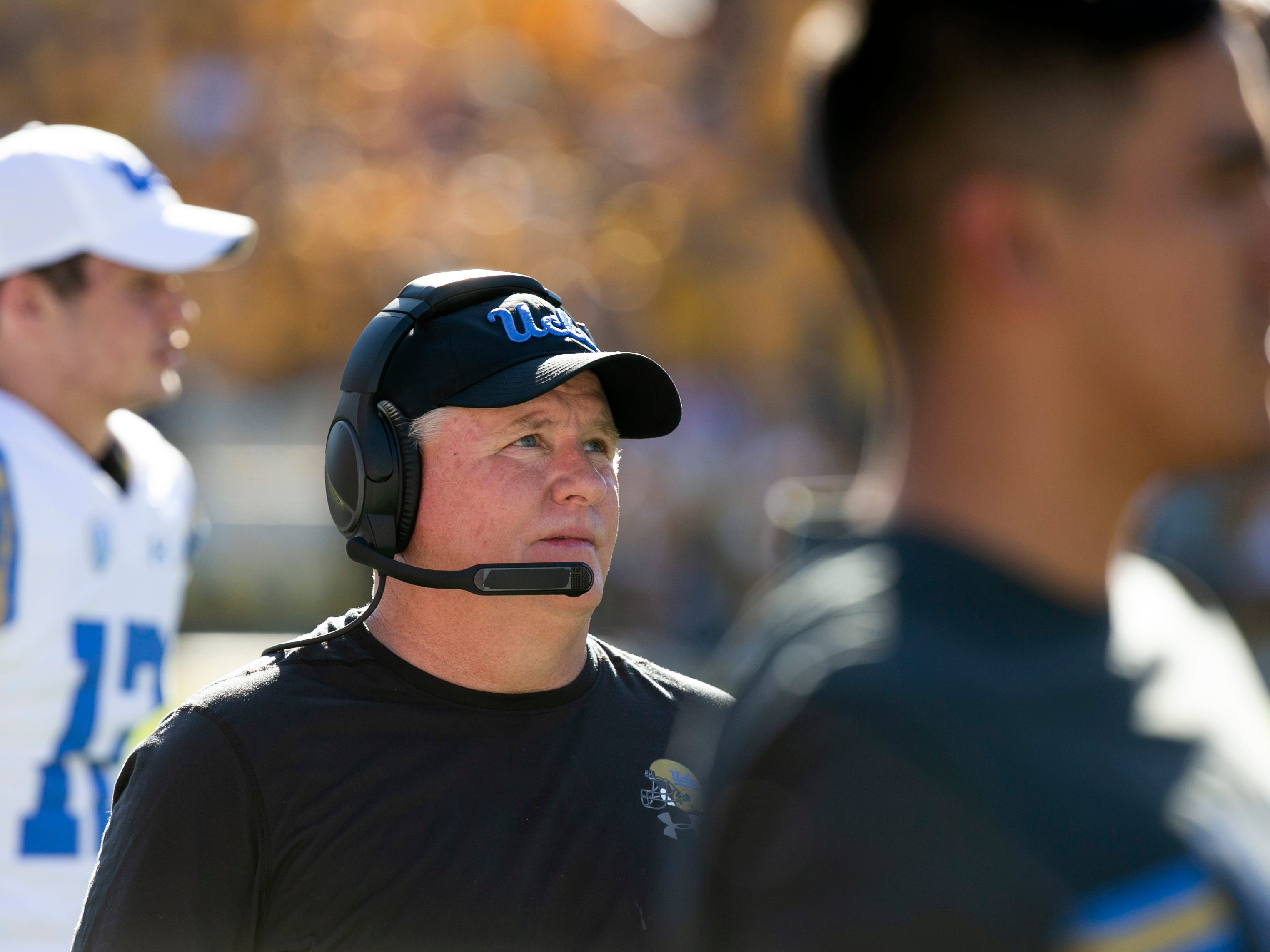 UCLA head coach Chip Kelly during the fourth quarter of the PAC-12 college football against Arizona State at Sun Devil Stadium in Tempe on Saturday, November 10, 2018.