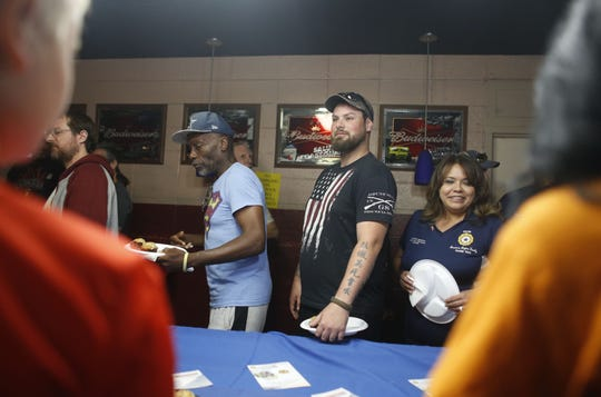 Veterans eat breakfast during 7th annual Forgotten Heroes Appreciation Breakfast at Travis L. Williams American Legion Post 65 in Phoenix on Nov. 10, 2018.