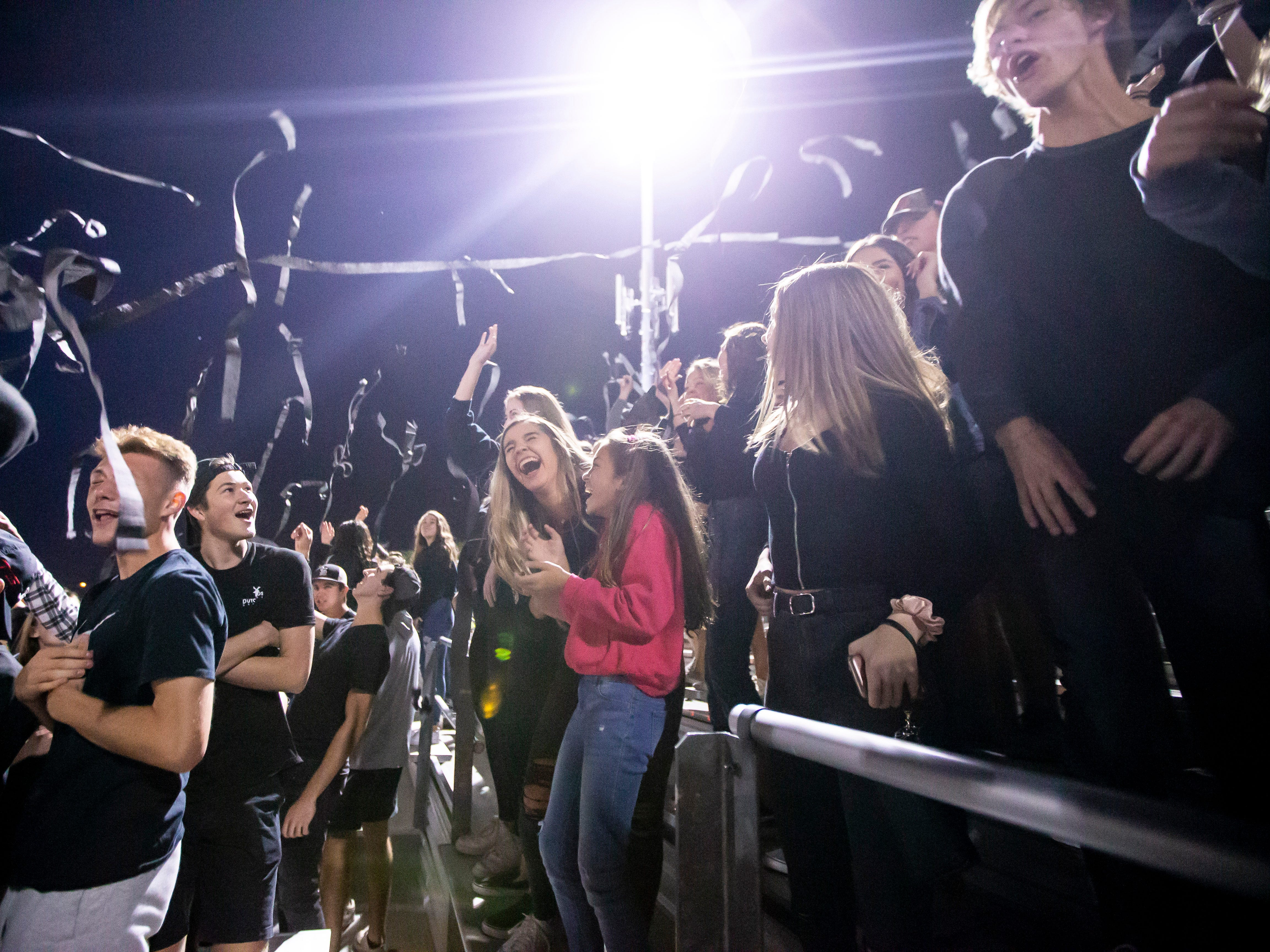 Pinnacle student section during the playoff game against the Red Mountain Mountain Lions at Pinnacle High School on Friday, November 9, 2018 in Phoenix, Arizona. #azhsfb