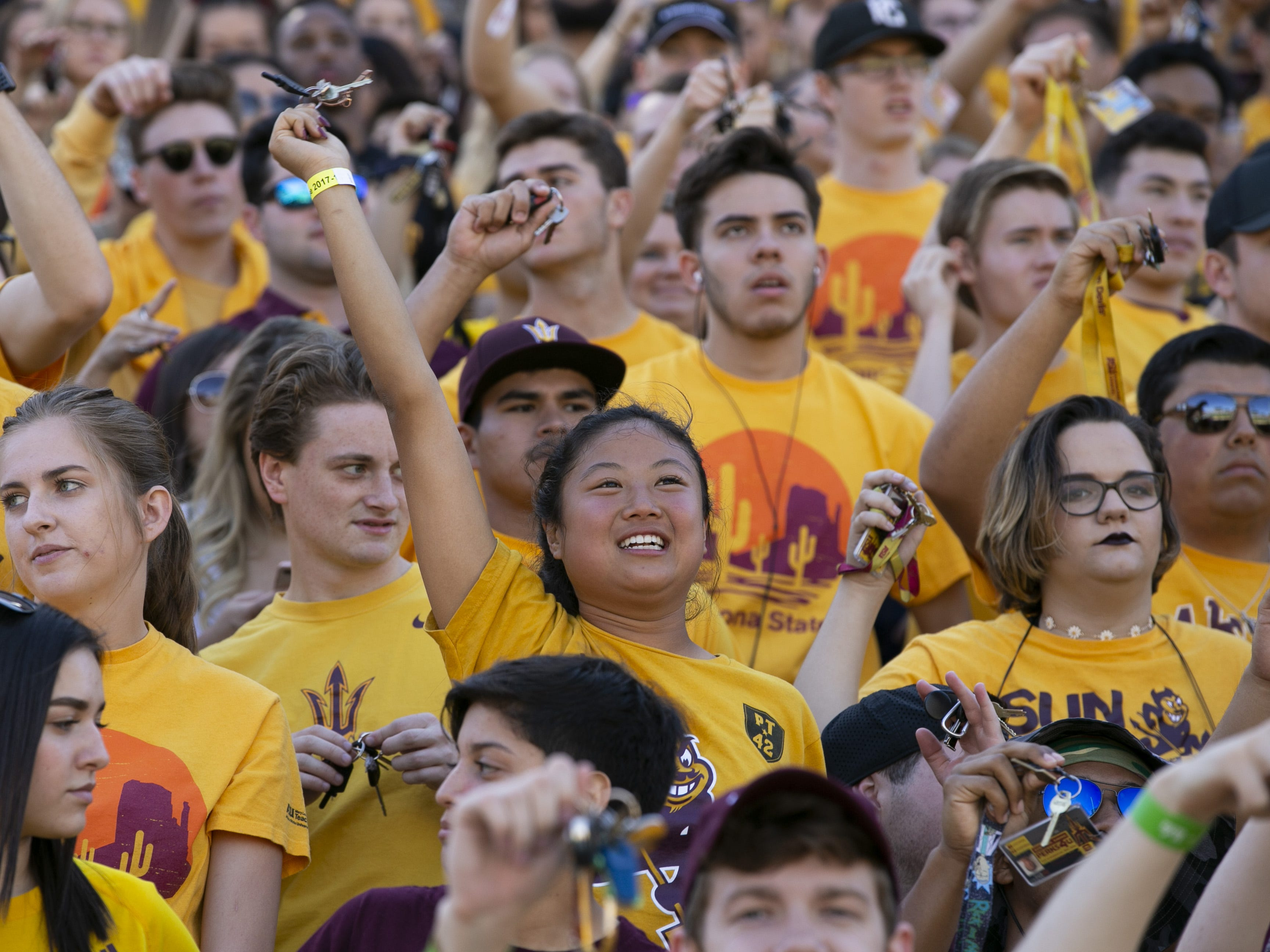 ASU fans watch the first quarter of the PAC-12 college football game against UCLA at Sun Devil Stadium in Tempe on Saturday, November 10, 2018.