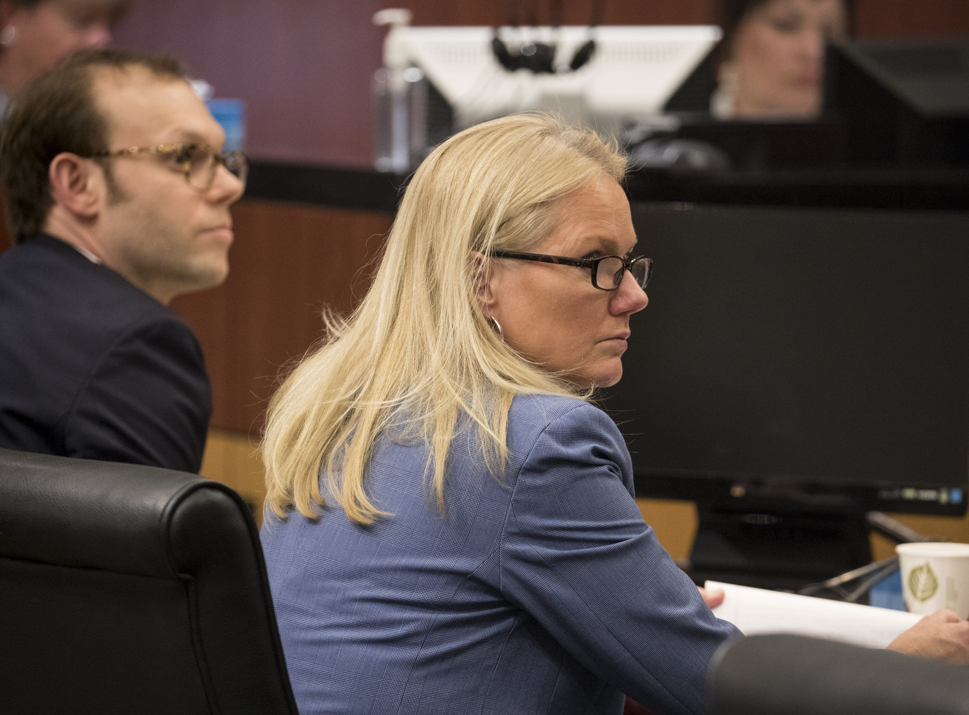 Colleen Connor, Deputy Maricopa County Attorney, during a hearing in Maricopa County Superior Judge Margaret Mahoney's courtroom in Phoenix on Nov. 9, 2018.