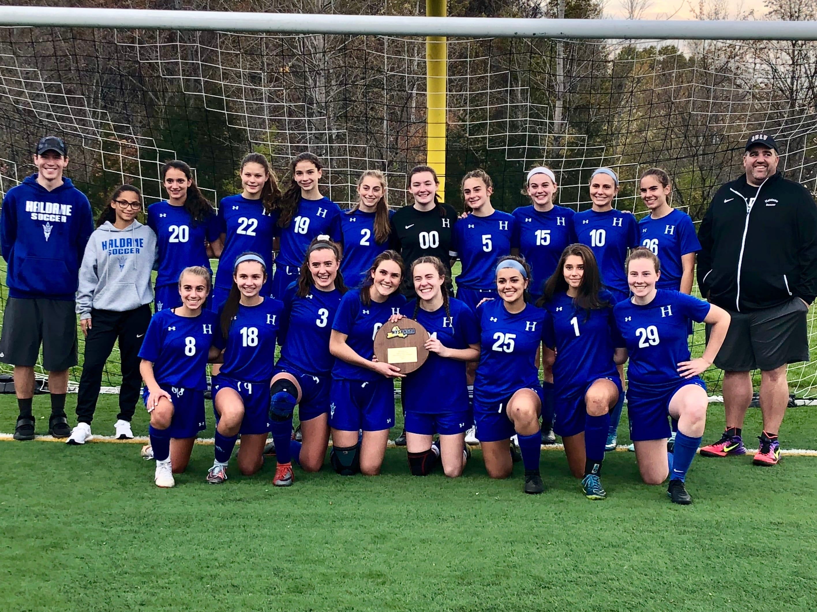 Heads held high despite Haldane's girls soccer season ending in state semifinals