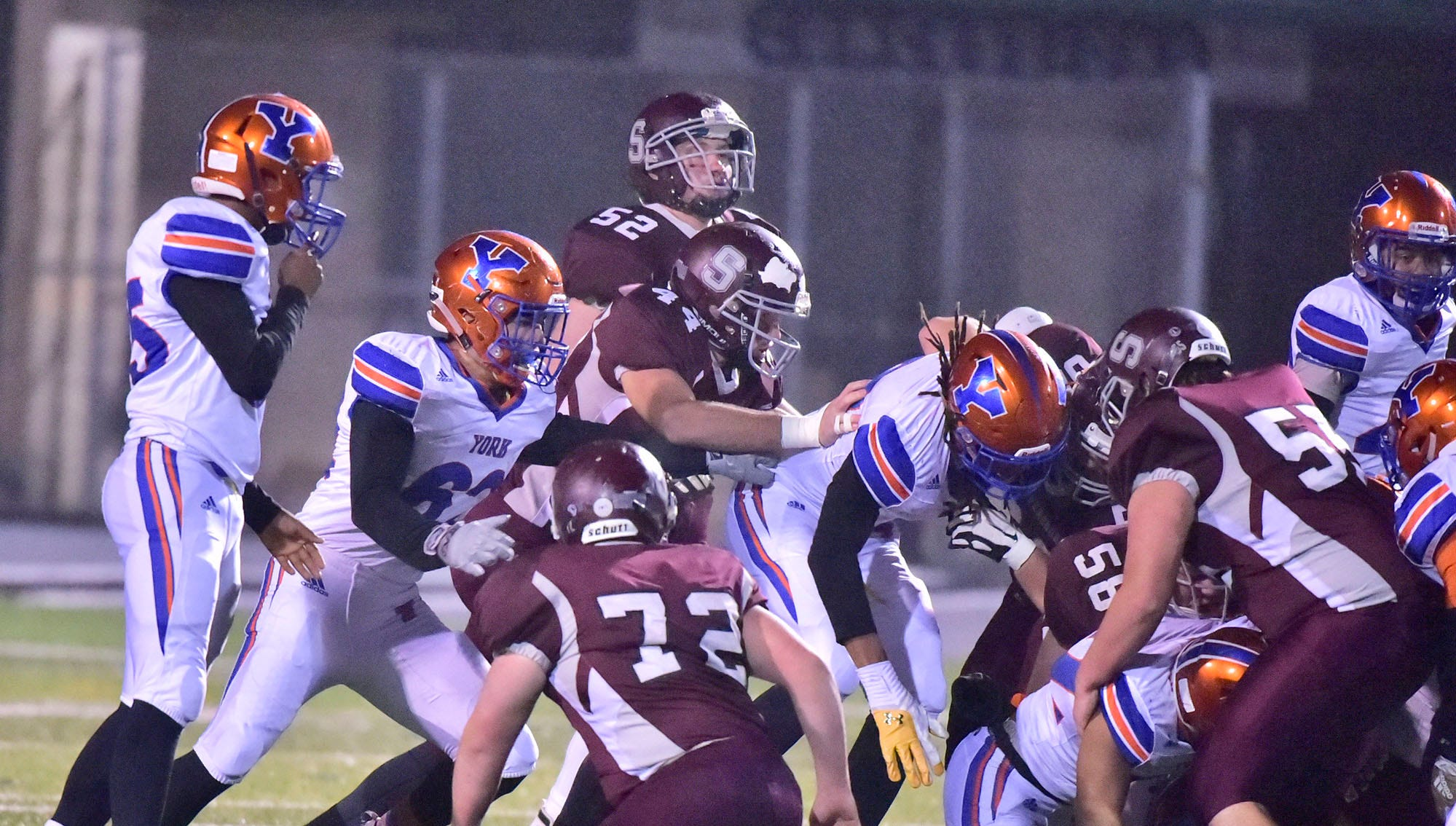 York High defeated Shippensburg 22-6  in the the quarterfinals of PIAA 5A District 3 football playoffs on Friday, Nov. 9, 2018 at Trojan Stadium.